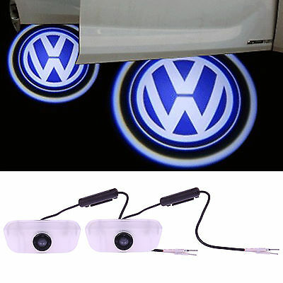 2pcs LED Welcome Car Light Door Logo Projector Ghost Laser Shadow Lamp For VW