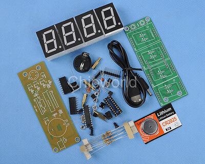 """NEW PCK-4 Red 1"""" 4-Bit Clock DIY Module DIY Kit 1-inch Digital Tube"""