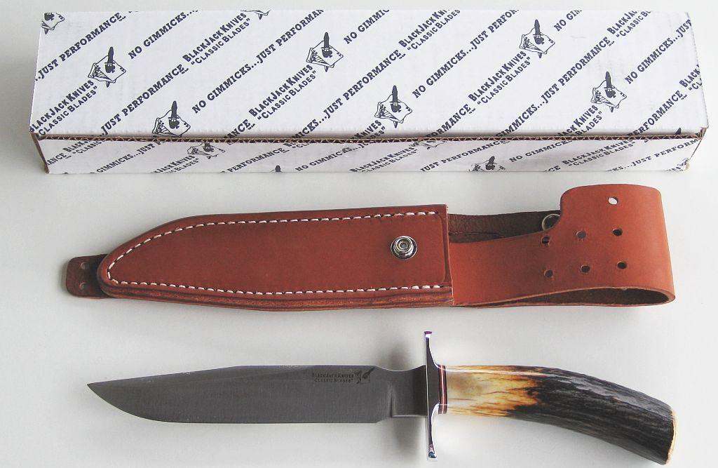 COLTELLO nerojack Classic Blades Model 1-7 Sambar Stag-Nuovo Scatola Originale