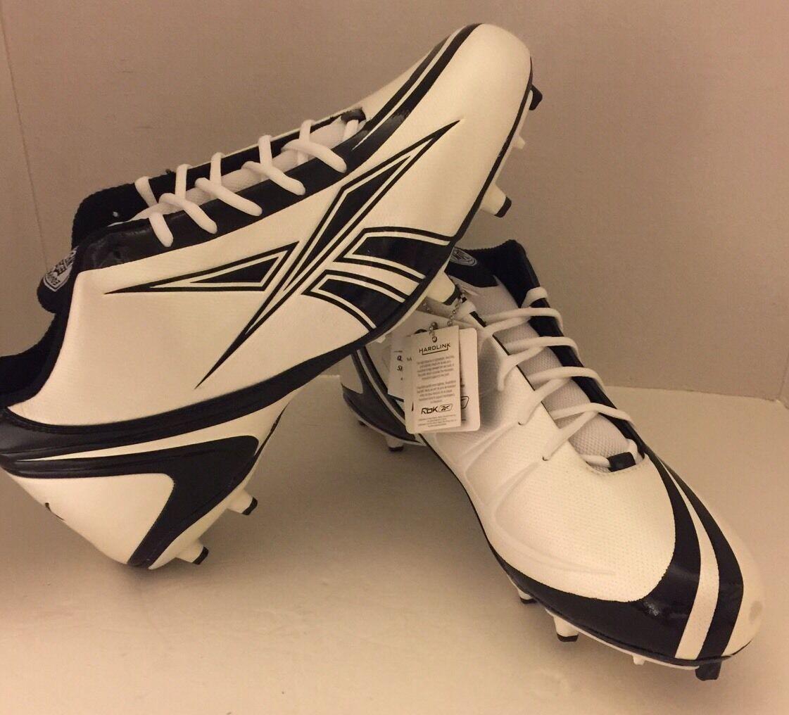 New Reebok RBK NFL Football Cleats Equipment 15 Hardlink Soccer Cleats White