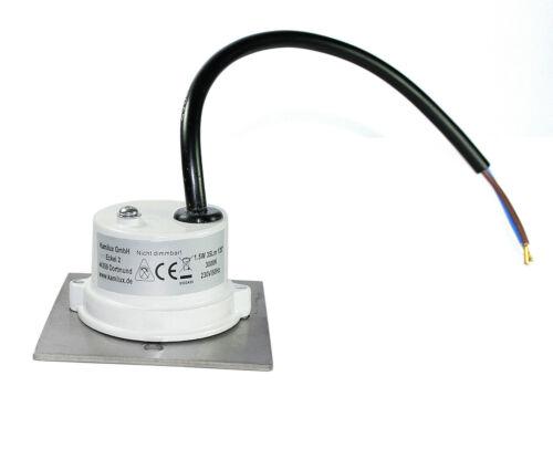 3er Set LED Stiegen-Lampen Wandstrahler Royal-S für herkömmliche Schalterdosen