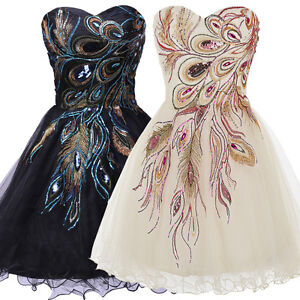 Strapless Party Homecoming Prom Evening Bridesmaid Dress Cocktail Ball Gowns New