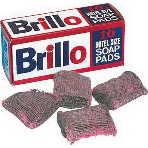 Brillo Steel Wool Heavy Duty Soap Pad Pink 4  L x 4  W   10 Box 12 Box Case