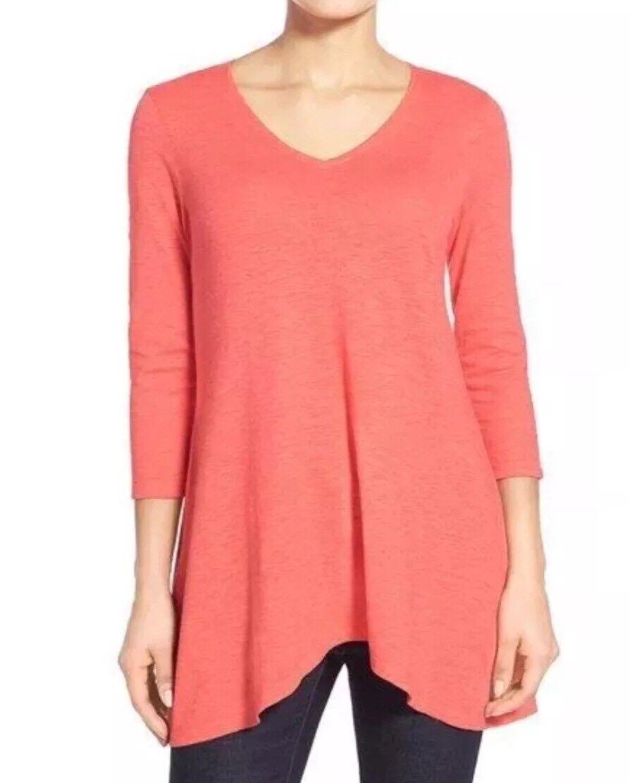NEW Eileen Fisher V Neckline Hemp Organic Cotton Tunic, Größe S P, Retail