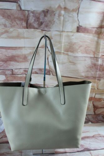 New Style /& Co Clean Cut Reversible Tote Large Handbag Shopper Bag Natural $89