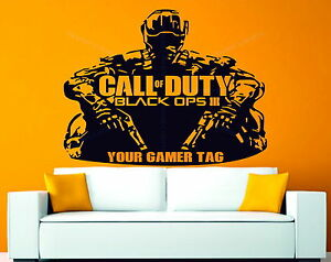 Call of duty black ops 3 personalised gamer tag decor for Black ops 3 decorations