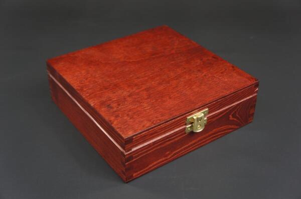 1 X Mahogany Wooden Jewellery Treasure Chest Keepsake Box Trinket Storage P18mm Fijn Vakmanschap