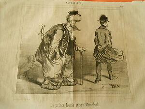 Litho-1848-Le-Prince-Louis-et-son-Mameluck