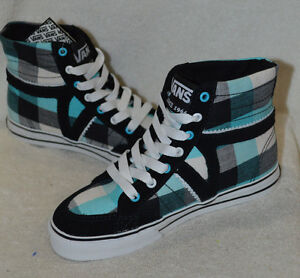 Details about Vans Girls Corrie High-Top Black   Blue Skate Shoes -  Assorted Sizes 1b9764172