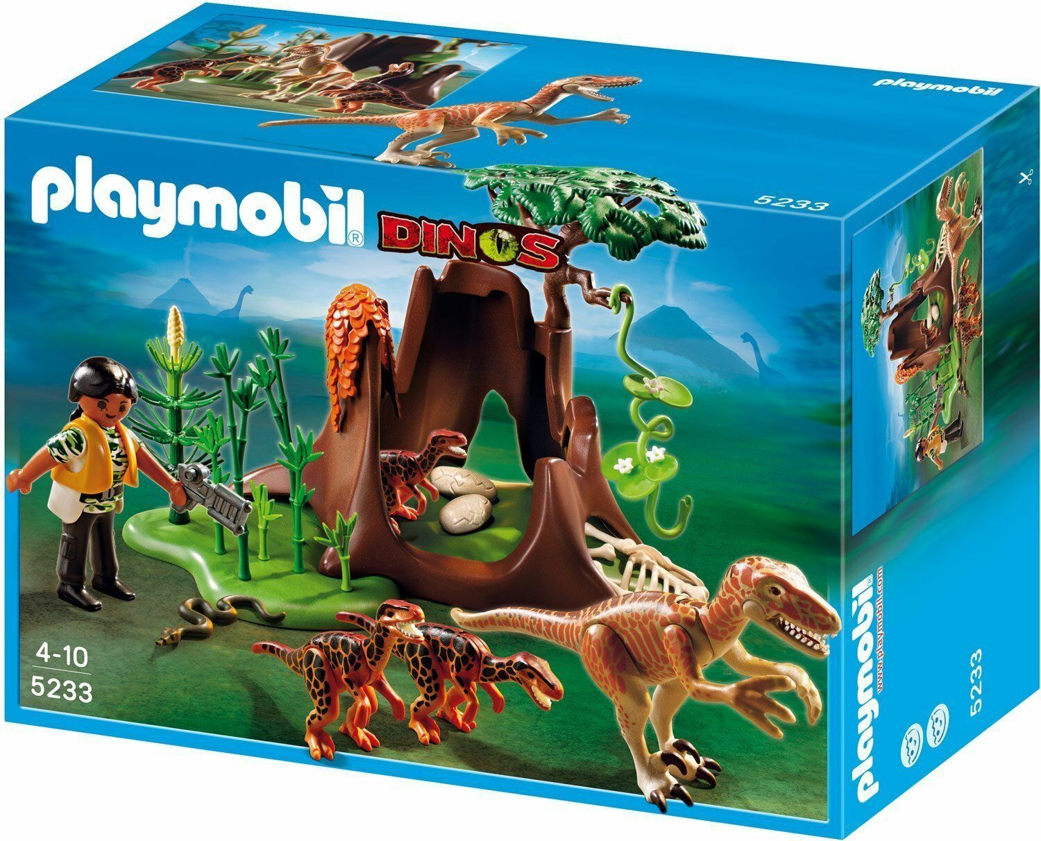 Playmobil 5233 Dinos - Deinonychus and Velociraptors - MISB   NEW   UNOPENED
