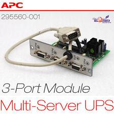 APC USV 3-PORT MULTI-SERVER UPS MODULE R6000 295560-001 124060 3x RS-232 SERIAL