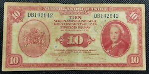 Nederland-Paper-Money-1943-Nederlandsch-Indie-10-Roepiah