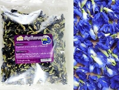 BUTTERFLY FLOWER PEA 100% PURE DRIED FLOWER 50g FOR TEA DRINK FOOD COLORING