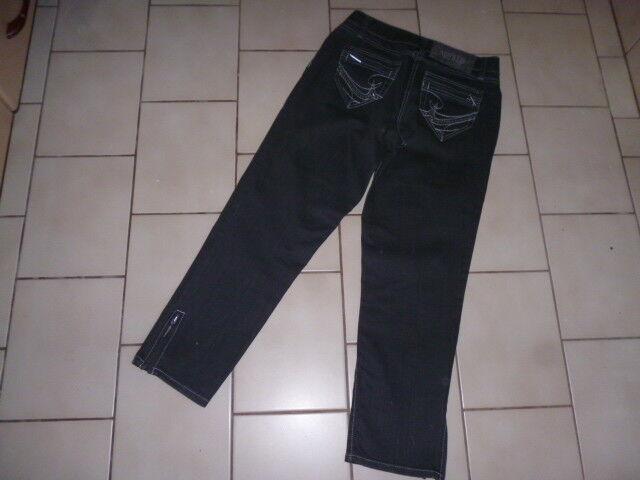 Airfield Hose Jeans Stretch 7 8  Gr. 36  Kp anthrazit grau