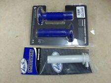 SCOTT BLUE RADIAL FULL WAFFLE MX GRIPS + MP THROTTLE TUBE YAMAHA YZ 80 85 100