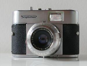 Appareil-photo-vintage-Voigtlander-Vito-B-Annees-50-60-Etui-d-039-origine