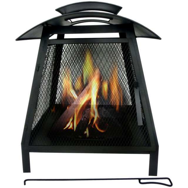 Garden Chimenea Patio Heater Fire Pit Chimnea Wood Burner Steel Chiminea Outdoor