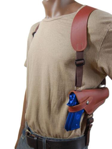 NEW Barsony Horizontal Burgundy Leather Shoulder Holster Astra Beretta Full Size