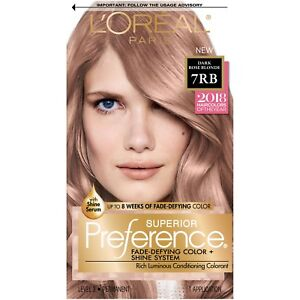 Details About Loreal Superior Preference 7rb Dark Rose Blonde 2018 Hair Color Of Year