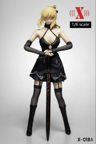 "X-TOYS 1//6 Scale Anime Head Sculpt costume robe Set pour 12/"" Figure Doll"