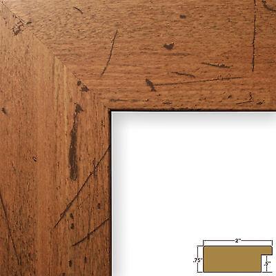 """Craig Frames Bauhaus, 2"""" Modern Rustic Light Walnut Picture Frame"""