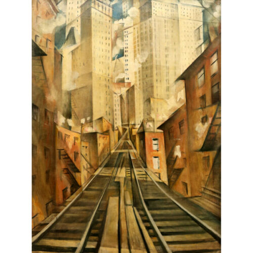 Nevinson Soul Soulless City New York Abstract Painting Wall Art Print Framed