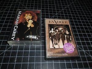 2 Classic Funk & Soul Vintage Cassette Audio Tapes By Mariah Carey & En Vogue