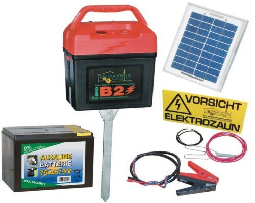 Batterie Stromgerät Weidezaun Elektrozaungerät Weidezaungerät Solarmodul 4W
