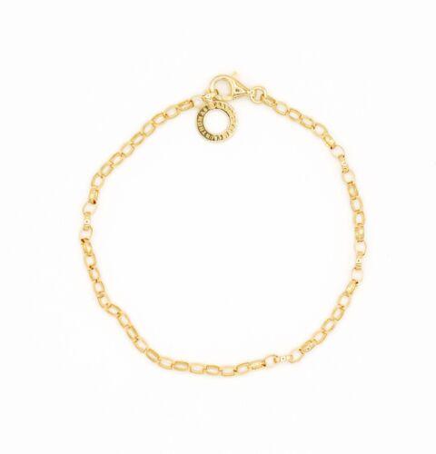 THOMAS SABO Charm Silber Armband gelbgold X0243-413-39 Länge 15,5 cm