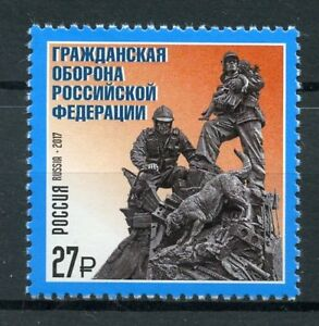 Russie-2017-neuf-sans-charniere-Defense-Civile-1-V-Set-chiens-militaires-timbres