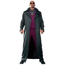 Morpheus Costume Adult The Matrix Long Coat & Glasses Halloween Fancy Dress