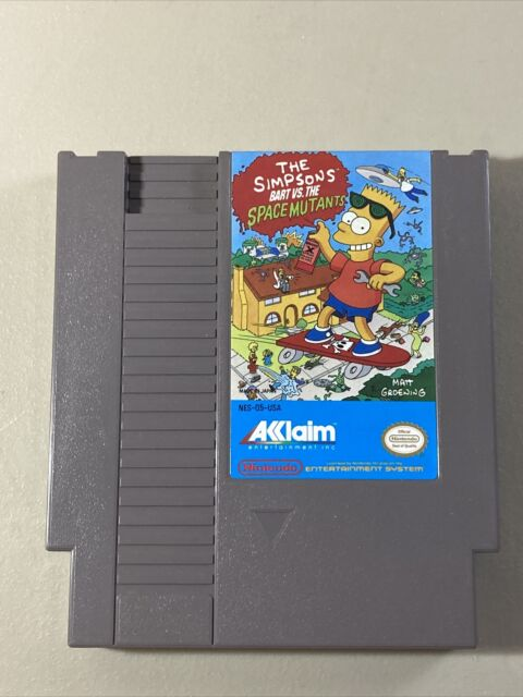 The Simpsons: Bart vs the Space Mutants (NES) Nintendo authentic works great