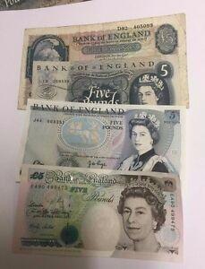 Sterlina-inglese-cinque-banconote-selezionare-la-nota-e-cassa