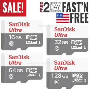 Sandisk-16GB-32GB-64GB-128GB-Micro-SD-Class-10-TF-Flash-SDHC-Memory-Card-Adapter