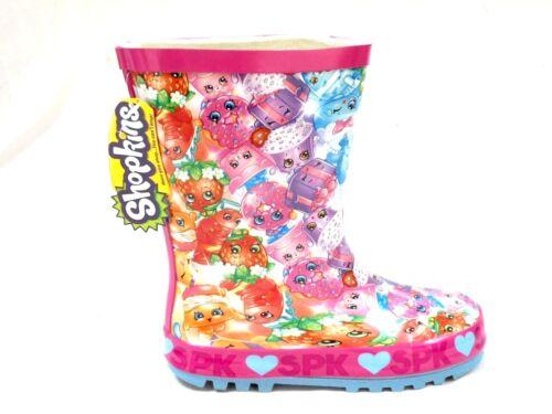 Le Ragazze Nuovi Shopkins GOMMA Stivali di gomma Welly Wellington Stivali da neve misura 8-2