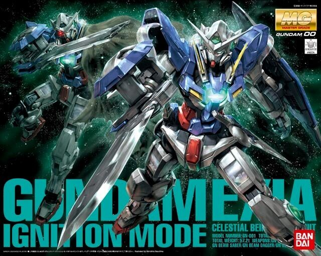 BANDAI MG 1 100 GN-001 Gundam EXIA IGNITION MODE Plastic Model Kit Gundam 00