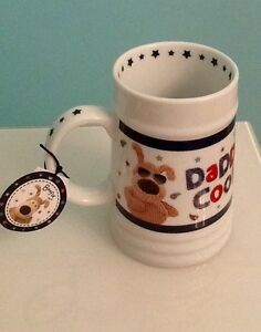 New-Dad-Gift-Boofie-White-Beer-Tankard-039-Daddy-Cool-039