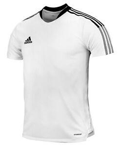 Adidas Men Tiro 21 Shirts Training White T-Shirt Casual Top Tee ...