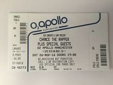USED CHANCE THE RAPPER TICKET STUB AT THE O2 APOLLO, MANCHESTER 26th NOV 2016