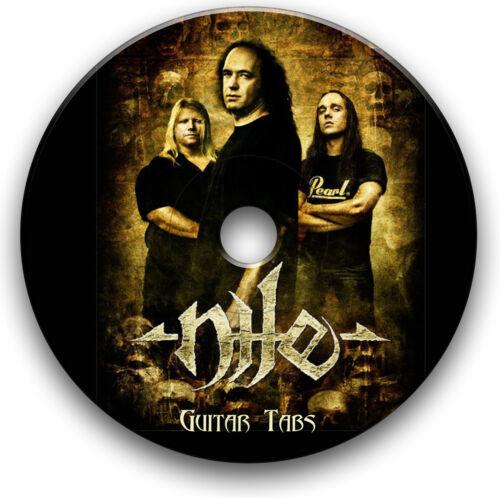 NILE DEATH METAL Rock Guitar Tab Tablature Lied BUCH Software CD