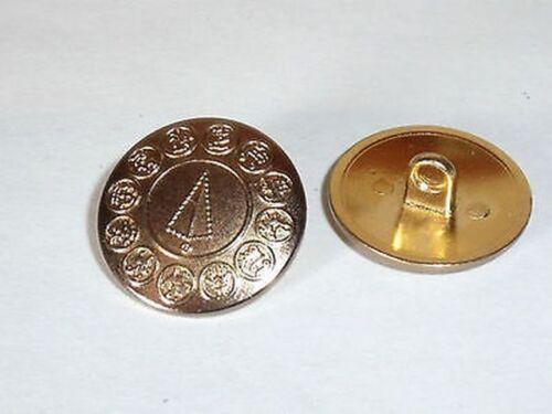 8 Stück Metallknöpfe Trachten Knöpfe Knopf messing 20 mm rostfrei #319#
