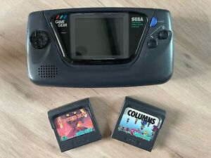 Sega Game Gear Handheld System Console With Columns And Wonderboy