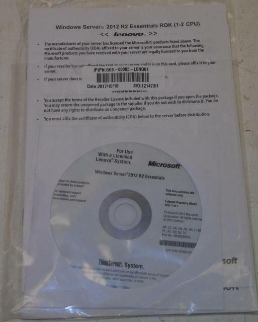 Dell 5mp9r 2012 R2 Foundation Rok 1 Cpu Windows Server For Sale Online Ebay