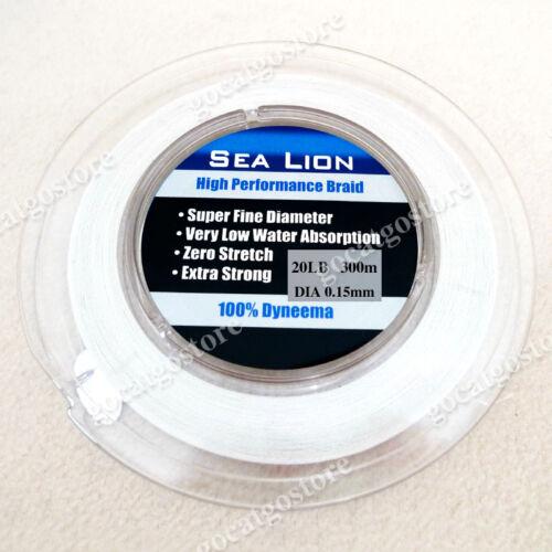 NEW Sea Lion 100% Dyneema Spectra Braid Fishing Line 300M 20lb White