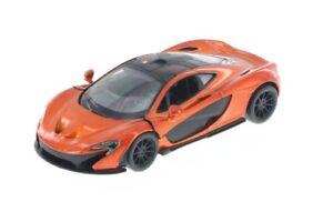 New-Kinsmart-5-034-McLaren-P1-Diecast-Model-Toy-Car-Pull-Action-1-36-ORANGE