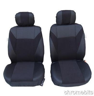 FRONT BLACK FABRIC SEAT COVERS 1+1 OPEL VAUXHALL CORSA C D MERIVA ASTRA G H J