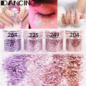 4Pot-Set-Pink-Purple-Flake-Chunky-Glitter-Powder-Nail-Eyeshadow-Tattoo-Body