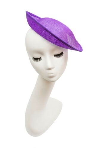 "Available in 16 Colors 9 1//2/"" Purple Saucer with Upturned Brim Hat Base"