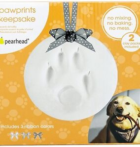 Details about Paw Print Ornament Kit Dog Cat Keepsake Memory DIY Clay Tool  Ribbon Christmas
