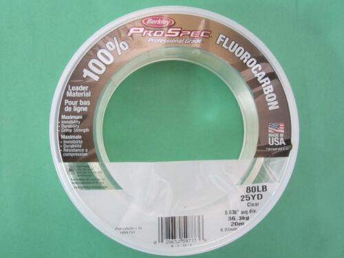 Berkely ProSpec Flulrocarbon 80LB 25YD Clear Leader